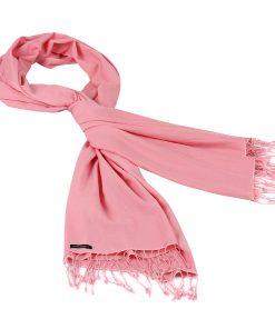 Pashminasjal - 90x200cm - 70% Cashmere / 30% Silke - Quartz Pink