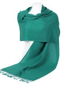 Pashminasjal - 45x200cm - 100% Cashmere - Ultramarine Green