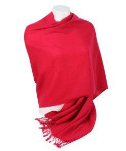 Pashminasjal - 70x200cm - 100% Cashmere - Crimson