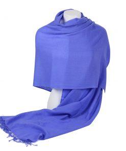 Pashminasjal - 70x200cm - 100% Cashmere - Blue Iris