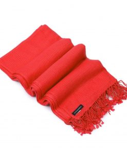 Pashminasjal - 90x200cm - 100% Cashmere - Fiery Red