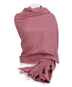 Pashminasjal - 90x200cm - 100% Cashmere - Withered Rose