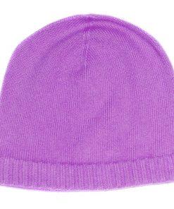 Ribbed Hem Hat - 100% Cashmere - Dusky Lavender