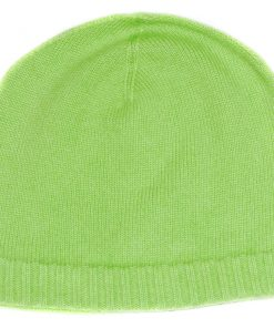 Ribbed Hem Hat - 100% Cashmere - Baby Rice