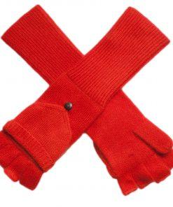 Ladies Cashmere On/Off Gloves - 100% Cashmere - Spicy Orange mp20