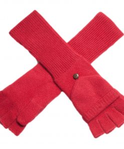 Ladies Cashmere On/Off Gloves - 100% Cashmere - Raspberry Wine mp31