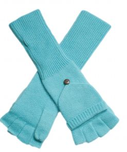 Ladies Cashmere On/Off Gloves - 100% Cashmere - Aqua Sky mp98