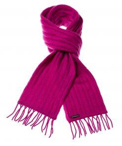 Cable Knit Scarf - 100% Cashmere - 35x180cm - Deep Orchid