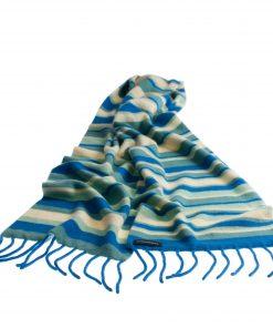 Pure Cashmere Stripe Scarf