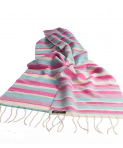 Knitted Stripey Scarf - 170x25cm - 100% Cashmere - Japan Lovers