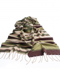 Knitted Stripey Scarf - 170x25cm - 100% Cashmere - Secret Forest