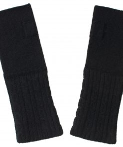 Cable Wristwarmer - 100% Cashmere - Black