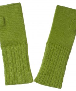 Cable Wristwarmer - 100% Cashmere - Woodbine