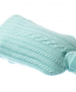 Cashmere Hot Water Bottle Cover - Blue Glow