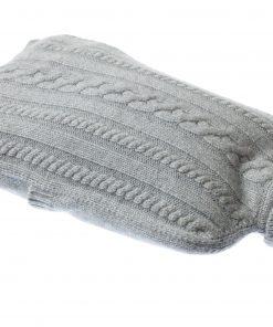 Cashmere Hot Water Bottle Cover - Melange Light Grey