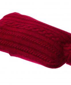 Cashmere Hot Water Bottle Cover - Melange Red