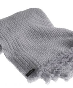 Pure Cashmere Basketweave Blanket