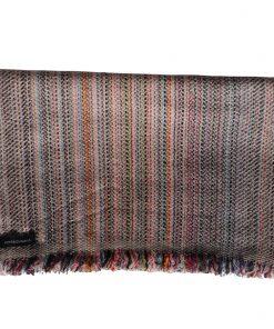 Cashmere Stripe Scarf - Srs39 - 33x180cm