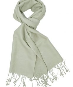 Pashmina Scarf - 30x150cm - 70% Cashmere/30% Silk - Green Haze