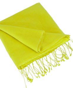 Pashmina Large Scarf - 45x200cm - 70% Cashmere/30% Silk - Buttercup