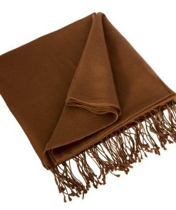 Pashmina Large Scarf - 45x200cm - 70% Cashmere/30% Silk - Cocoa Brown