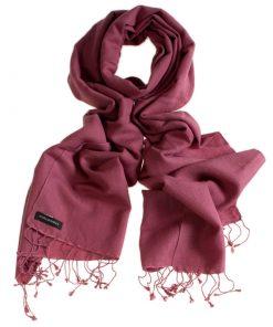 Pashmina Large Scarf - 45x200cm - 70% Cashmere/30% Silk - Dry Rose