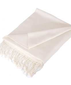Pashmina Medium Stole - Natural White
