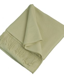Pashmina Stole - 70x200cm - 70% Cashmere / 30% Silk - White Sand