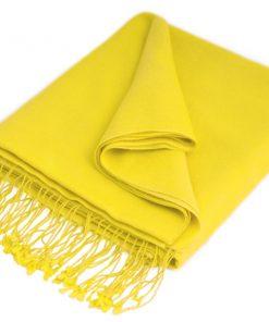 Pashmina Stole - 70x200cm - 70% Cashmere / 30% Silk - Buttercup
