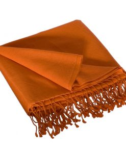 Pashmina Stole - 70x200cm - 70% Cashmere / 30% Silk - Harvest Pumpkin