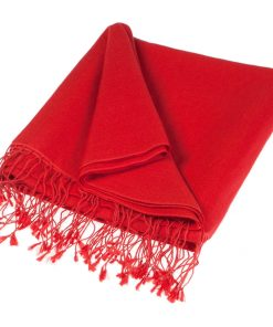 Pashmina Stole - 70x200cm - 70% Cashmere / 30% Silk - Fiery Red