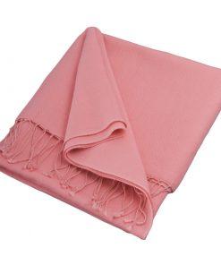 Pashmina Stole - 70x200cm - 70% Cashmere / 30% Silk - Quartz Pink