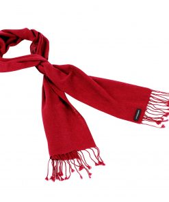 Pashmina Scarf - 30x150cm - 100% Cashmere - Rio Red