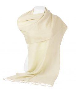 Pashminasjal - 45x200cm - 100% Cashmere - Winter White