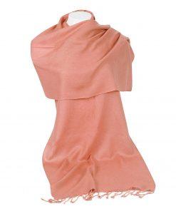 Pashminasjal - 45x200cm - 100% Cashmere - Peach Nectar
