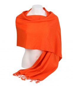 Pashminasjal - 45x200cm - 100% Cashmere - Spicy Orange