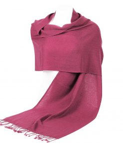 Pashminasjal - 45x200cm - 100% Cashmere - Red Violet