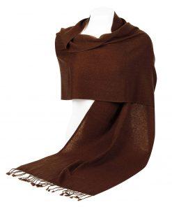 Pashminasjal - 45x200cm - 100% Cashmere - Cocoa Brown
