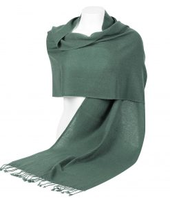 Pashminasjal - 45x200cm - 100% Cashmere - Duck Green