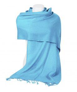 Pashminasjal - 45x200cm - 100% Cashmere - Blue Mist