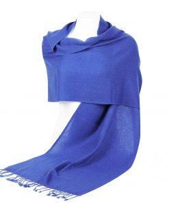 Pashminasjal - 45x200cm - 100% Cashmere - Blue Iris