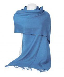 Pashminasjal - 45x200cm - 100% Cashmere - Parisian Blue