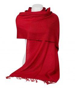 Pashminasjal - 45x200cm - 100% Cashmere - Rio Red
