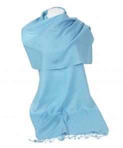 Pashminasjal - 45x200cm - 100% Cashmere - Milky Blue