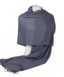 Pashminasjal - 70x200cm - 100% Cashmere - Folkstone Grey