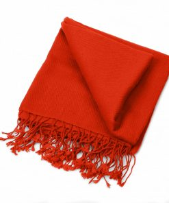Pashminasjal - 70x200cm - 100% Cashmere - Fiery Red