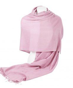 Pashminasjal - 70x200cm - 100% Cashmere - Pink Lady