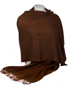 Pashminasjal - 70x200cm - 100% Cashmere - Cocoa Brown