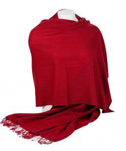 Pashminasjal - 70x200cm - 100% Cashmere - Rio Red