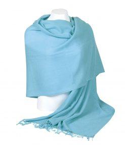 Pashminasjal - 70x200cm - 100% Cashmere - Milky Blue